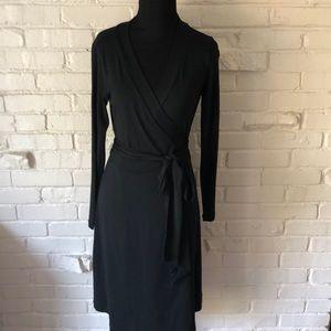 NWT Banana Republic Black Wrap Dress